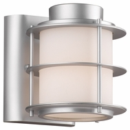 Philips F849641 Hollywood Hills Contemporary Vista Silver Finish 6  Tall Outdoor Wall Sconce Lighting