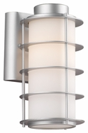 Philips F849741 Hollywood Hills Contemporary Vista Silver Finish 10.25  Tall Outdoor Lighting Sconce