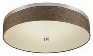 Philips FD0007836 Chelsea Satin Nickel Finish 4.375  Tall LED Flush Mount Lighting