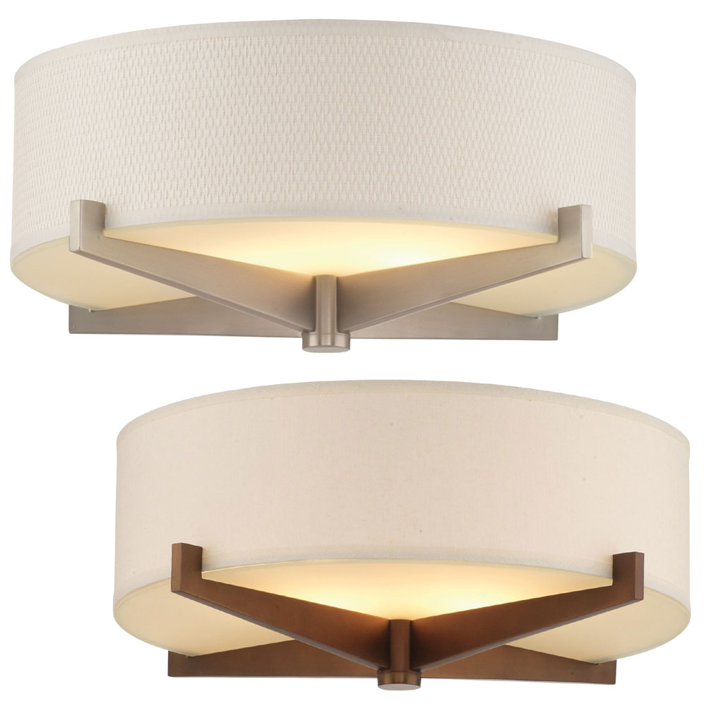 philips fisher island modern  wide flush mount lighting  - philips fisher island modern nbsp wide flush mount lighting loadingzoom