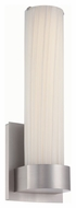 Philips FL0013836 Milano Contemporary Satin Nickel Finish 14.375  Tall LED Wall Lighting Sconce