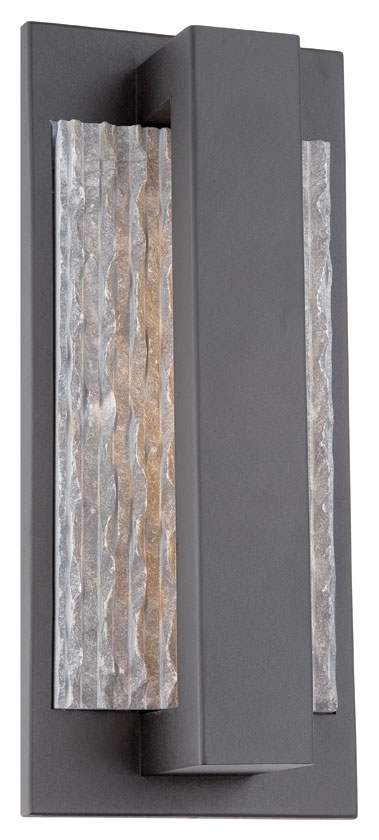 Tall Modern Wall Sconces : Philips FL0015030 Intrinsic Contemporary Black Finish 16