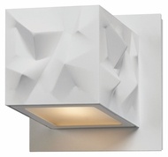 Philips FL0016873 Alps Contemporary High Gloss White Finish 4.625  Wide LED Wall Sconce