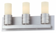 Philips FV0004836 Phoenix Contemporary Satin Nickel Finish 9  Tall 3 Light Bathroom Light Sconce