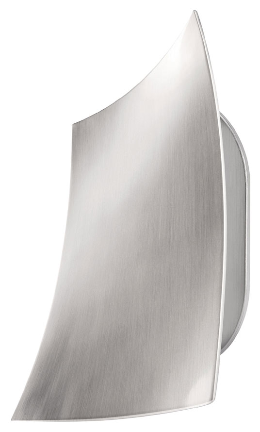 Tall Modern Wall Sconces : Philips Ledino 336041748 Sail 7 Inch Tall Matte Chrome Finish Modern Wall Sconce - PHI-336041748