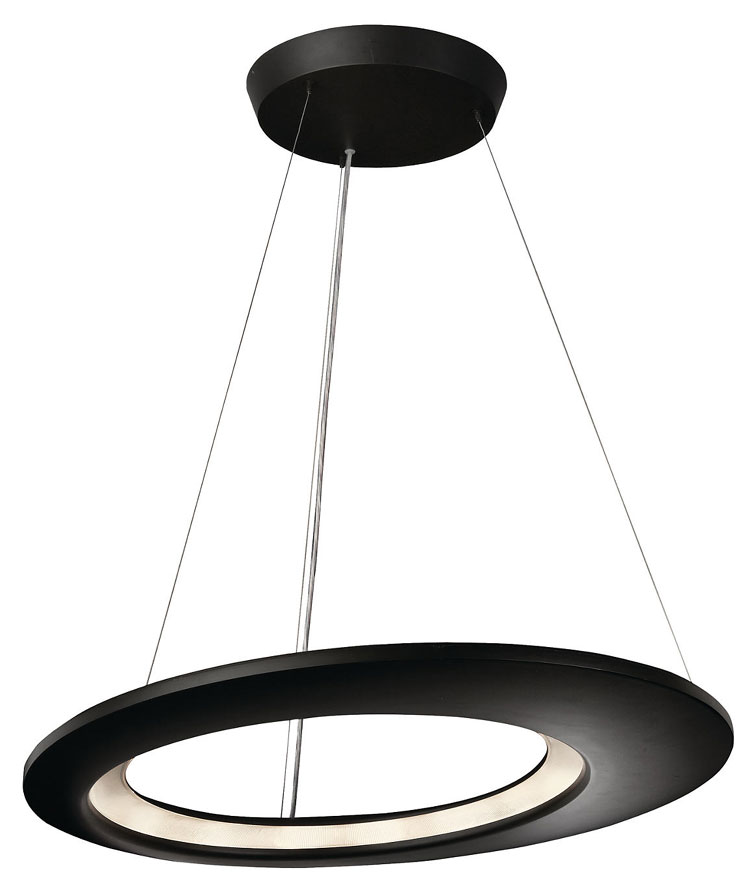 Philips Wall Hanging Lights : Philips Ledino 407559348 Ecliptic Large Antracit Finish 25 Inch Diameter LED Pendant Hanging ...