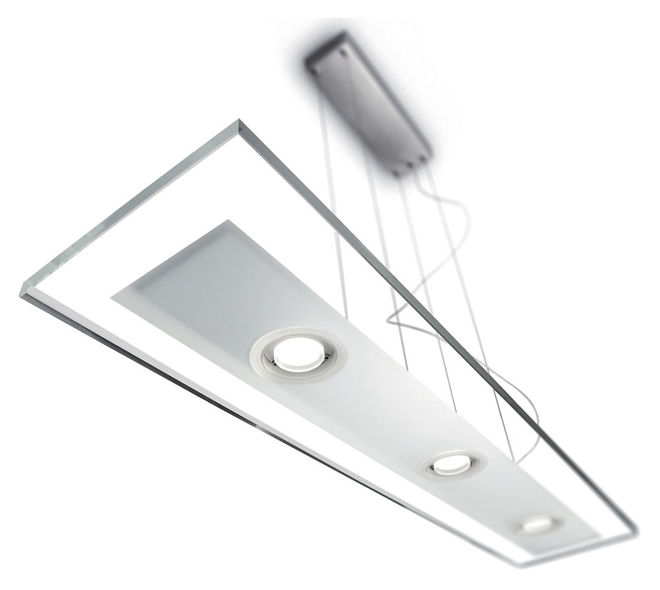 Philips Ledino 473464848 Vidro LED Contemporary 35 Inch Long Hanging Light Fixture - PHI-473464848