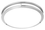 Philips TD0003217 Parallel Contemporary Brushed Nickel Finish 4  Tall LED Flush Mount Lighting Fixture