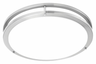 Philips TD0004217 Parallel Modern Brushed Nickel Finish 18  Wide LED Flush Mount Light Fixture
