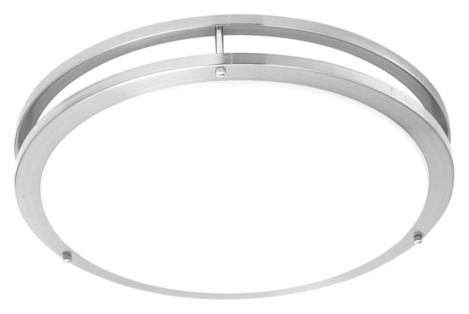 Philips td0004217 parallel modern brushed nickel finish 18 wide philips td0004217 parallel modern brushed nickel finish 18nbsp wide led flush mount light fixture loading zoom mozeypictures Gallery