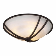 PLC 14864-ORB Highland Oil Rubbed Bronze 21  Flush Ceiling Light Fixture