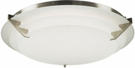 PLC 1546SN Palladium Modern Satin Nickel LED Flush Mount Lighting