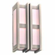 PLC 16632SL Freeport Contemporary Silver Exterior 7.5  Wall Lighting