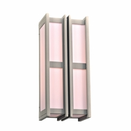 PLC 16634SL Freeport Contemporary Silver Exterior 8.75  Light Sconce