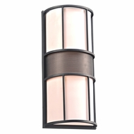 PLC 16658BZ Larissa Modern Bronze Outdoor Wall Lighting Sconce