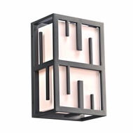 PLC 16660BZ Keller Contemporary Bronze Exterior Wall Sconce Lighting