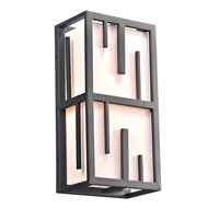 PLC 16662BZ Keller Modern Bronze Outdoor Wall Mounted Lamp