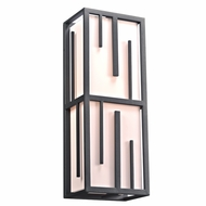 PLC 16664BZ Keller Contemporary Bronze Exterior Wall Light Sconce
