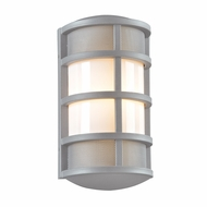 PLC 16671SL Olsay Contemporary Silver Exterior Wall Light Sconce