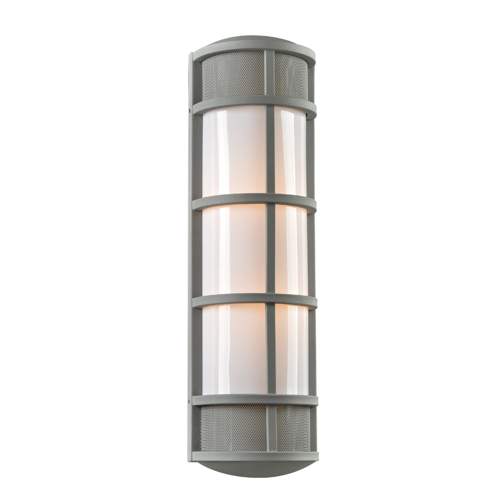 Exterior Wall Sconces Contemporary : PLC 16673SL Olsay Contemporary Silver Exterior Wall Sconce - PLC-16673SL