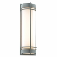 PLC 16677SL Telford Contemporary Silver Exterior Light Sconce