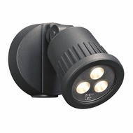 PLC 1763BZ Ledra Modern Bronze LED Outdoor Security Lighting