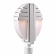 PLC 1831-WH Synchro Contemporary White Exterior Post Lighting