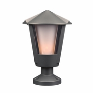 PLC 1888BZ Silva Modern Bronze Outdoor Post Lighting