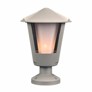 PLC 1888SL Silva Contemporary Silver Exterior Post Lamp