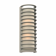 PLC 2036SL Sunset Contemporary Silver Exterior Wall Sconce Light