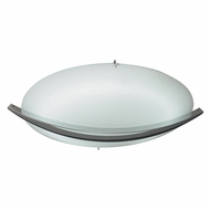 PLC 21015-SN Enzo Modern Satin Nickel 12.5  Flush Mount Ceiling Light Fixture