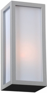PLC 2240SLLED Dorato Contemporary Silver LED Outdoor Lamp Sconce