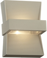 PLC 2260SL Fiona Contemporary Silver LED Outdoor Wall Lighting Fixture