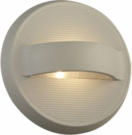 PLC 2262SL Fiona Contemporary Silver LED Outdoor Wall Sconce Light