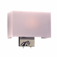 PLC 24214PC Duke Contemporary Polished Chrome Wall Lighting w/ LED Reading Light