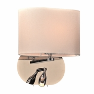 PLC 24216PC Mademoiselle Modern Polished Chrome Sconce Lighting w/ LED Reading Light