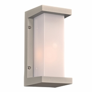 PLC 2710SL Boston Contemporary Silver Outdoor Wall Lighting Sconce
