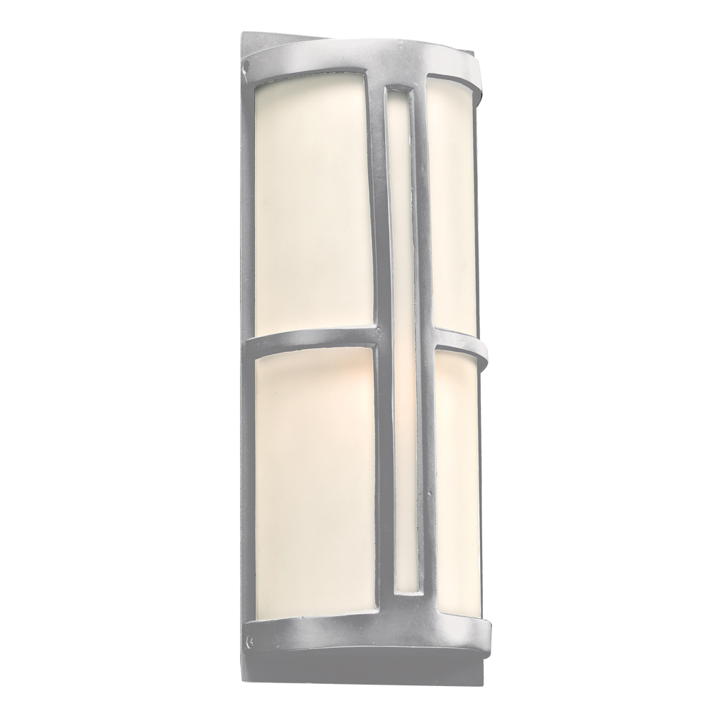 Plc 31736sl rox contemporary silver outdoor wall light for Modern exterior lighting fixtures