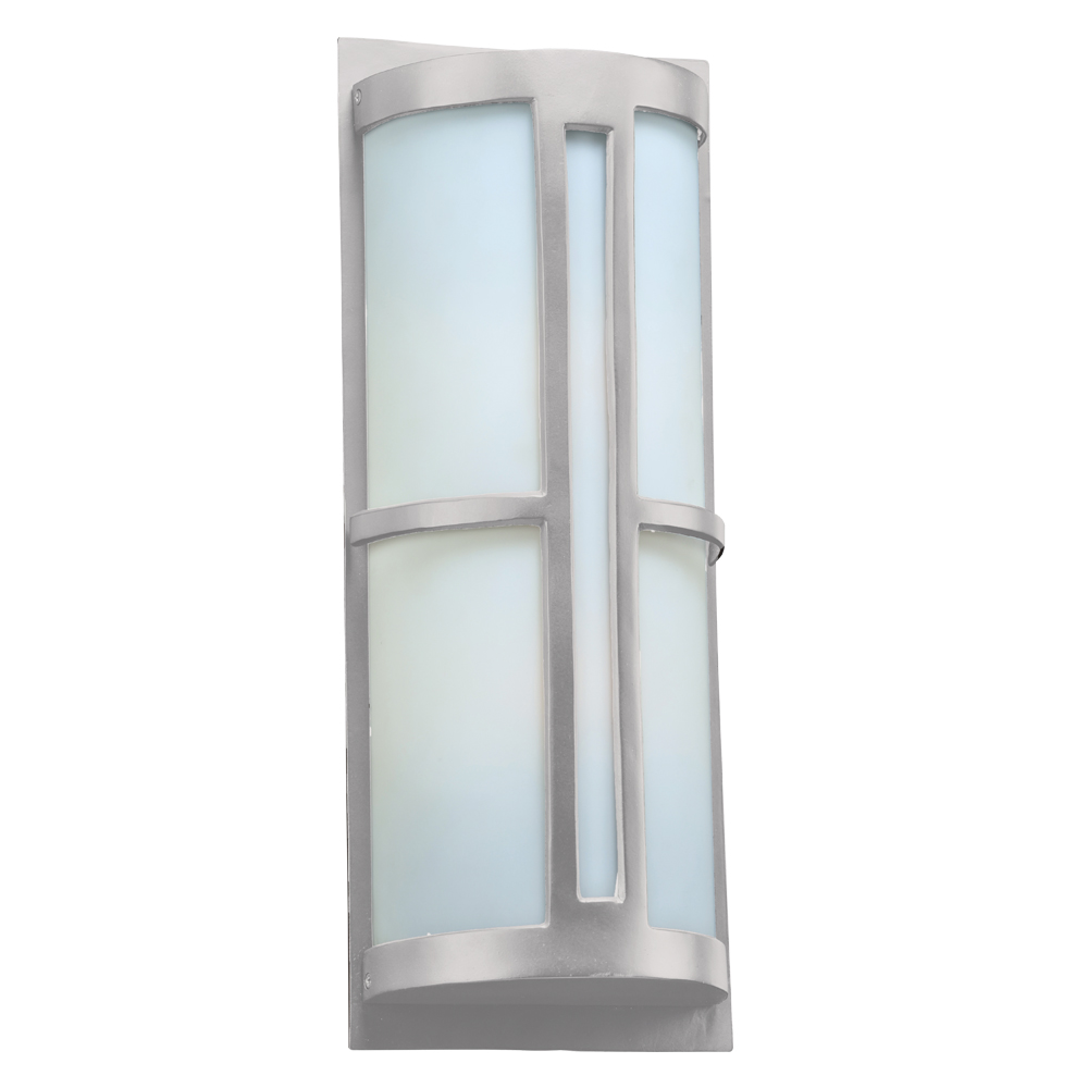 Plc 31738sl rox contemporary silver outdoor wall lighting sconce plc 31738sl for Contemporary exterior wall lights