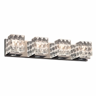 PLC 32044PC Blour Modern Polished Chrome 4-Light Vanity Light