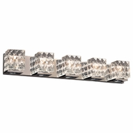 PLC 32045PC Blour Contemporary Polished Chrome 5-Light Bath Light Fixture
