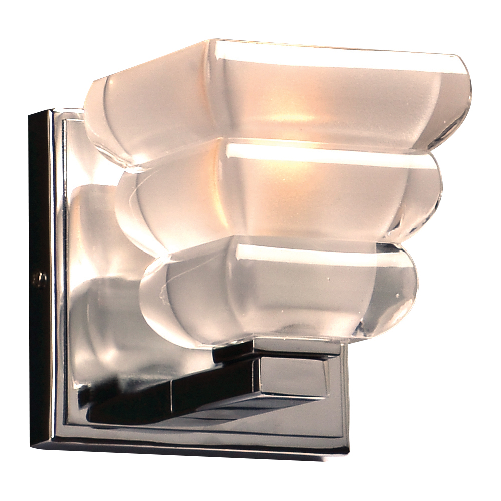 Modern Chrome Wall Sconces : PLC 32051PC Titan Modern Polished Chrome Wall Sconce - PLC-32051PC