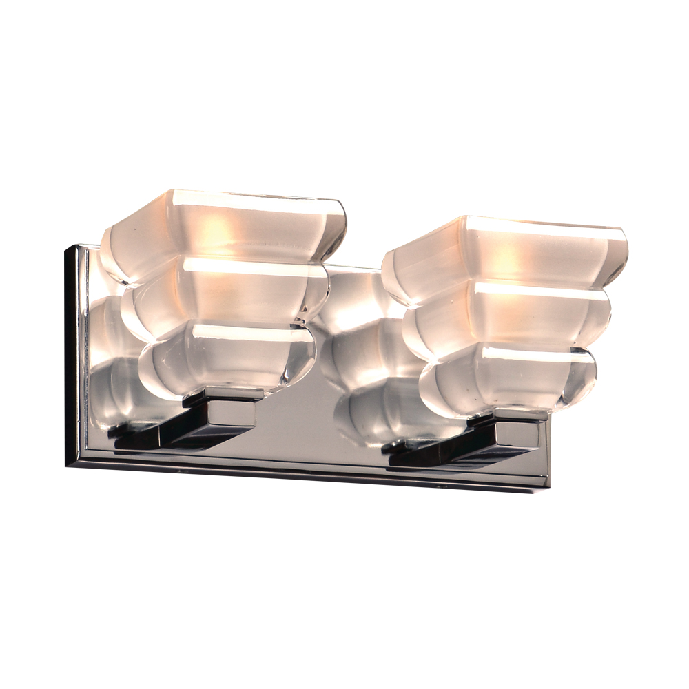 Plc 32052pc titan contemporary polished chrome 2 light for Bathroom 2 light fixtures