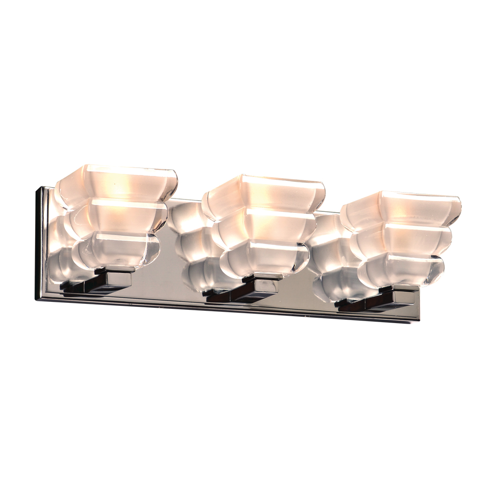 Plc 32053pc Titan Modern Polished Chrome 3 Light Bathroom Light Fixture Plc 32053pc