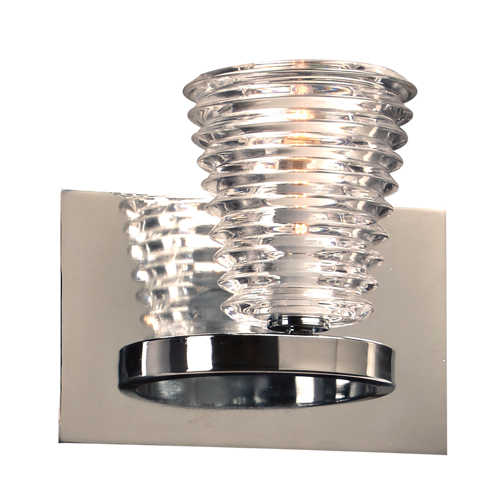 Wall Lamps Chrome : PLC 32061PC Enzis Contemporary Polished Chrome Wall Lamp - PLC-32061PC