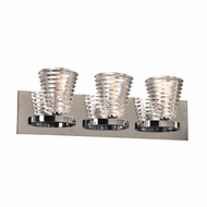 PLC 32063PC Enzis Contemporary Polished Chrome 3-Light Bath Sconce