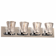 PLC 32064PC Enzis Modern Polished Chrome 4-Light Vanity Light Fixture