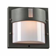 PLC 4046BZ Jedi Contemporary Bronze Outdoor Wall Mounted Lamp