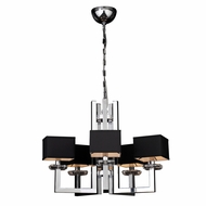 PLC 70065-PC Icon Modern Polished Chrome Chandelier Light