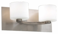 PLC 7612-SN De Lion Modern Satin Nickel Halogen 2-Light Vanity Light Fixture
